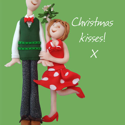 Christmas Kisses Greeting Card