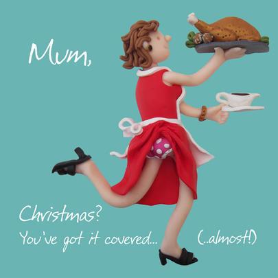 Christmas Covered Mum Greeting Card