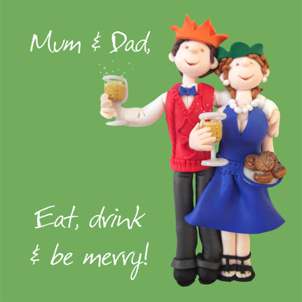 Mum & Dad Christmas Greeting Card