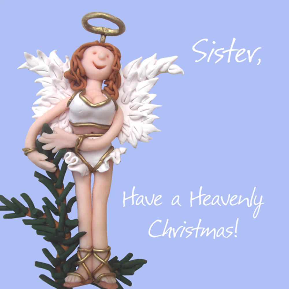 Sister Have a Heavenly Christmas Greeting Card