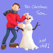 Son Just Chill Christmas Greeting Card