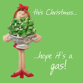 Hope It's A Gas Christmas Greeting Card