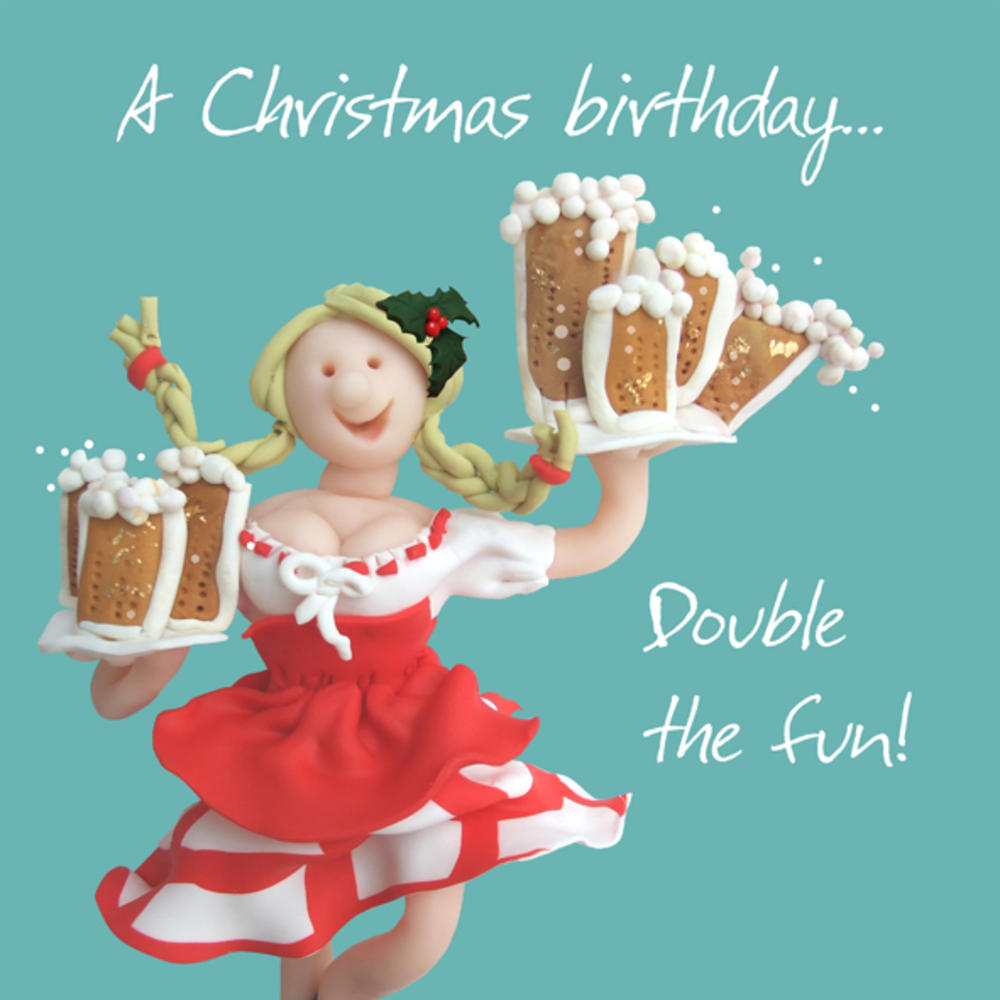 A Christmas Birthday Greeting Card