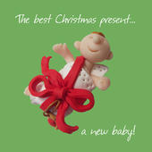 A New Baby Christmas Greeting Card