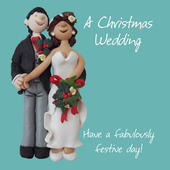 A Christmas Wedding Greeting Card