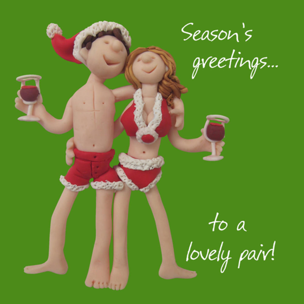 To A Lovely Pair Christmas Greeting Card