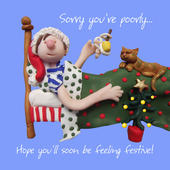 Sorry Your Feeling Poorly Christmas Greeting Card
