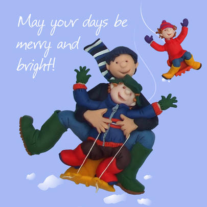 Merry And Bright Christmas Greeting Card