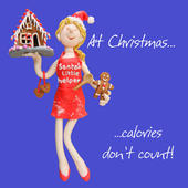 Calories Don't Count Christmas Greeting Card