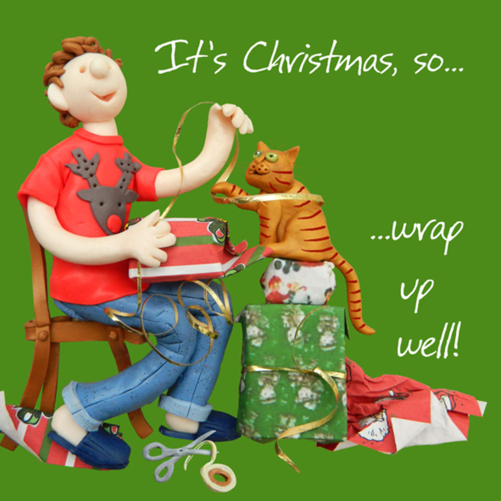 Wrap Up Well Christmas Greeting Card