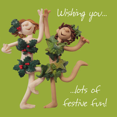 Festive Fun Christmas Greeting Card