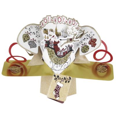 Santa Ho Ho Ho Petite Christmas Pop-Up Greeting Card