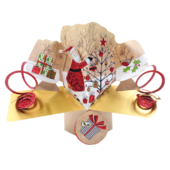 Santa & Tree Christmas Pop-Up Greeting Card