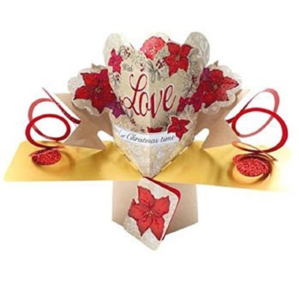 Love At Christmas Time Pop-Up Greeting Card
