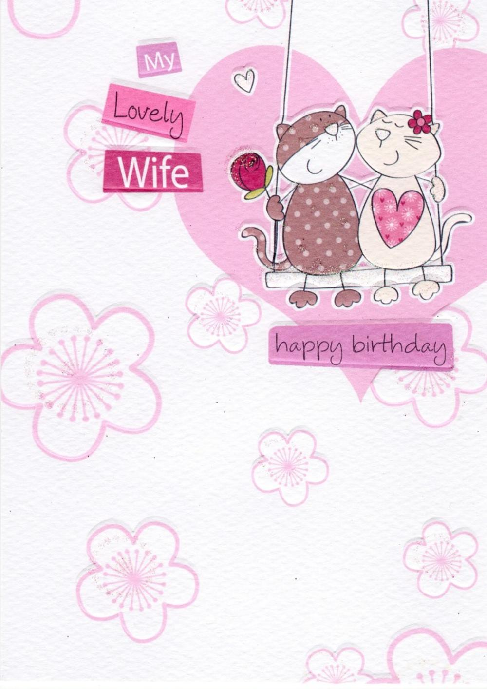 My Lovely Wife Birthday Greeting Card
