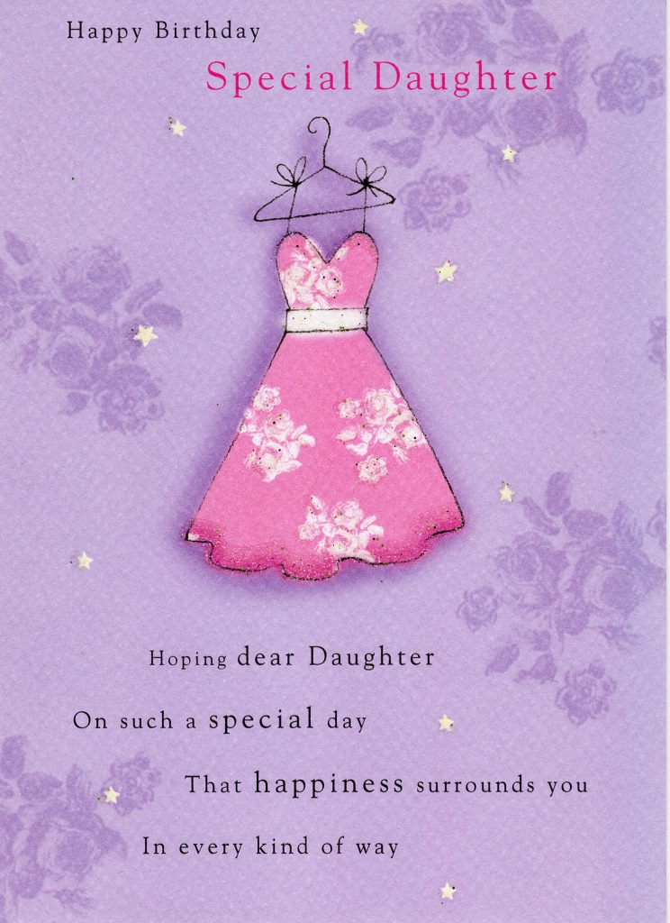 Special Daughter Birthday Greeting Card Cards Love Kates