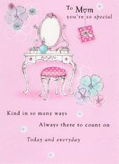 Special Mum Birthday Greeting Card