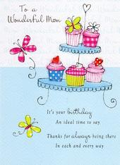 Wonderful Mum Birthday Greeting Card