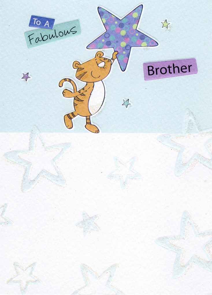 Fabulous brother birthday greeting card cards love kates fabulous brother birthday greeting card m4hsunfo