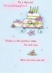 Special Granddaughter Birthday Greeting Card