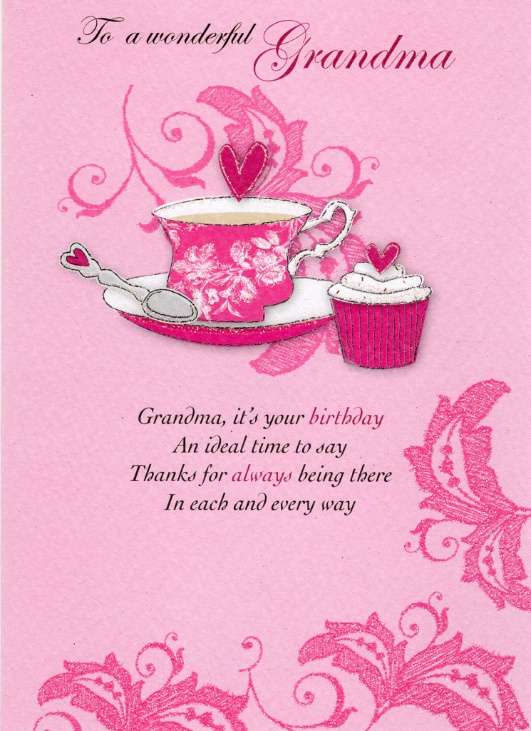 Wonderful Grandma Birthday Greeting Card Cards Love Kates
