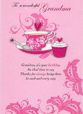 Wonderful Grandma Birthday Greeting Card