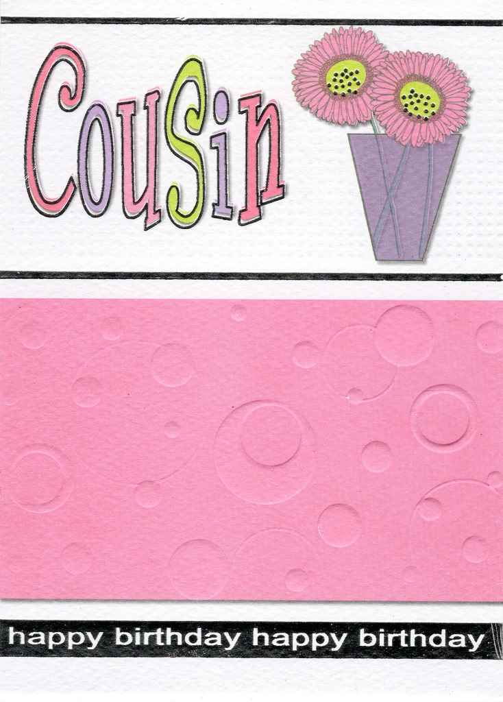 Cousin Pretty Pink Birthday Greeting Card Cards Love Kates