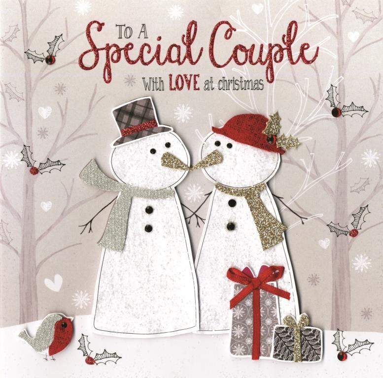 Boxed Special Couple Special Luxury Handmade Christmas Card | Cards