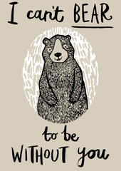 Can't Bear To Be Without You Tea Towel