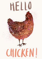 Hello Chicken Tea Towel