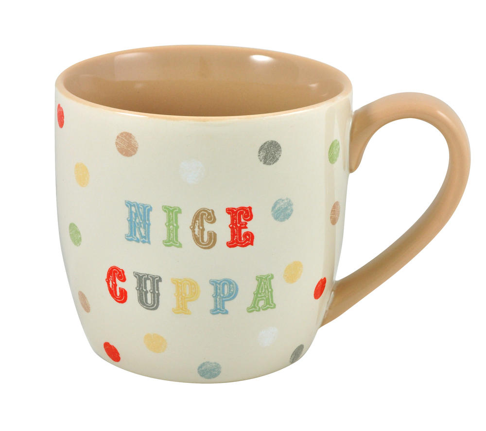 Nice Cuppa Ceramic Little Wishes Mug In Spotty Gift Bag