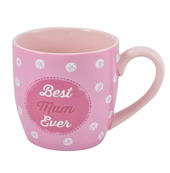 Best Mum Ceramic Little Wishes Mug In Spotty Gift Bag