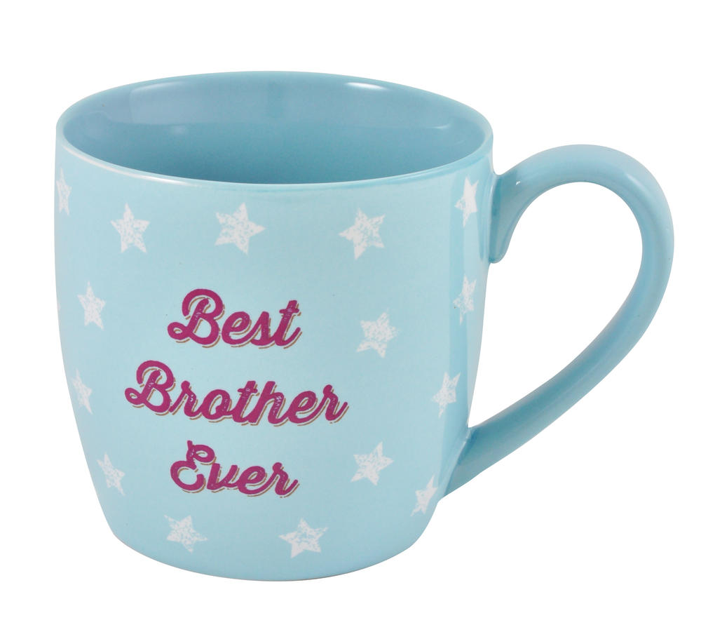 Best Brother Ceramic Little Wishes Mug In Spotty Gift Bag