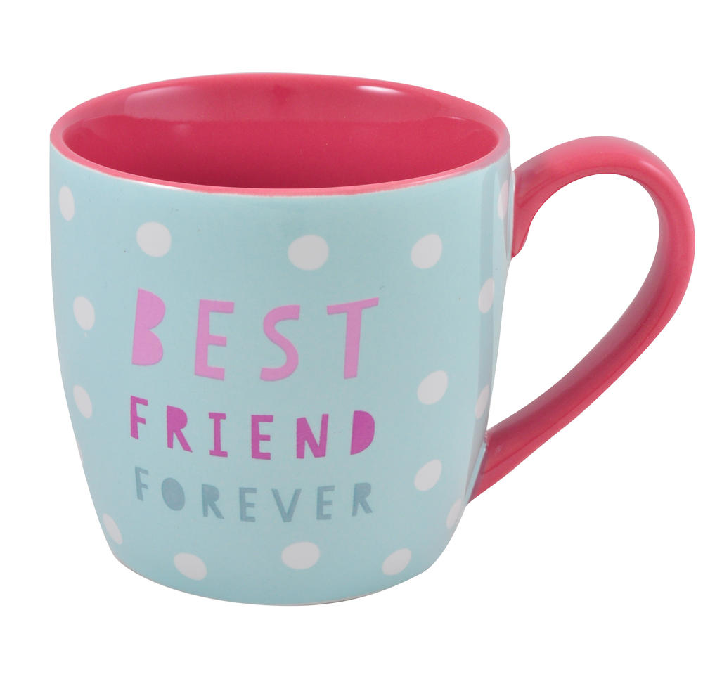 Best Friend Ceramic Little Wishes Mug In Spotty Gift Bag
