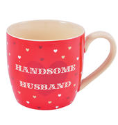 Handsome Husband Ceramic Little Wishes Mug In Spotty Gift Bag