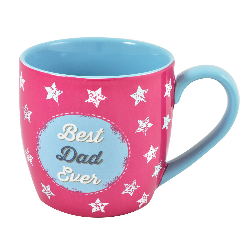 Best Dad Ceramic Little Wishes Mug In Spotty Gift Bag