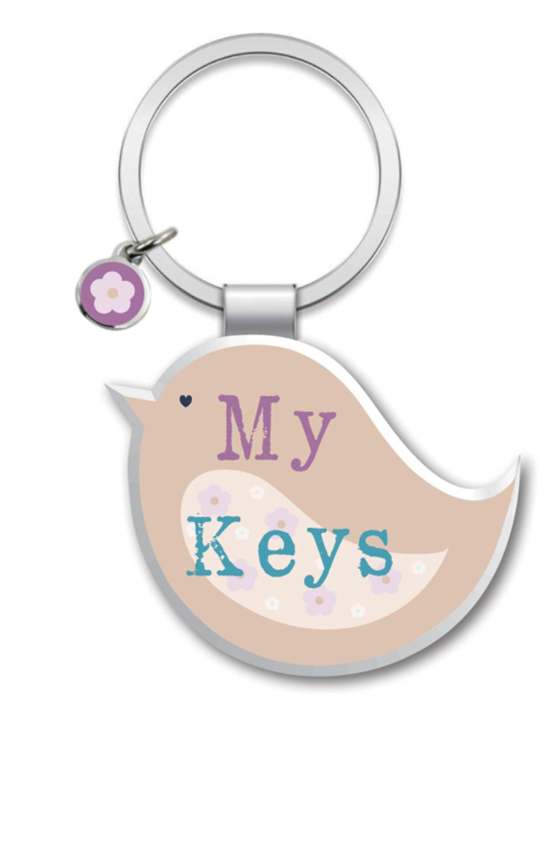 My Keys Little Wishes Metallic Keyring