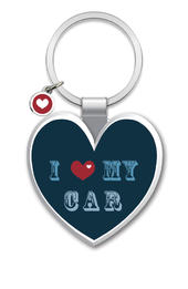 I love My Car Little Wishes Metallic Keyring