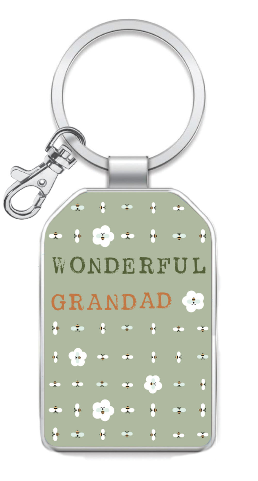Wonderful Grandad Little Wishes Metallic Keyring