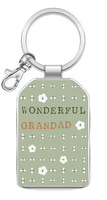 Wonderful Grandad Little Wishes Metallic Keyring