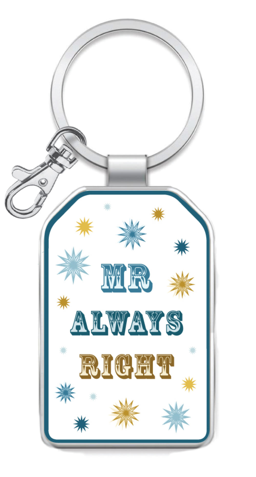 Mr Always Right Little Wishes Metallic Keyring