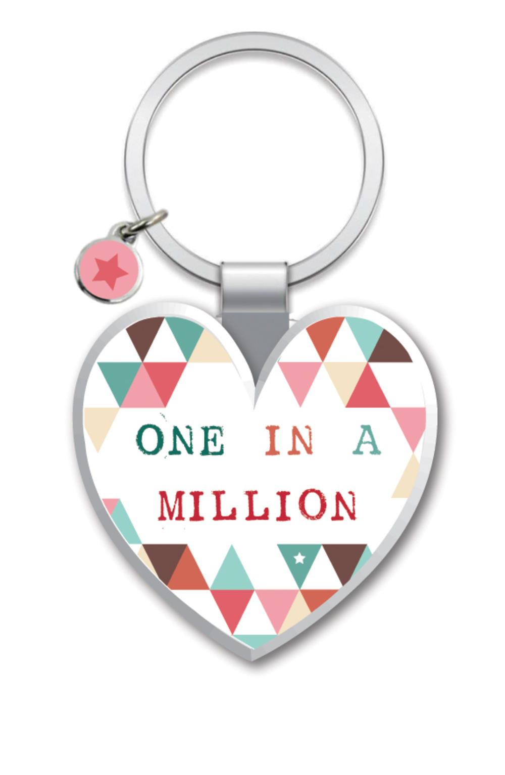 One In A Million Little Wishes Metallic Keyring