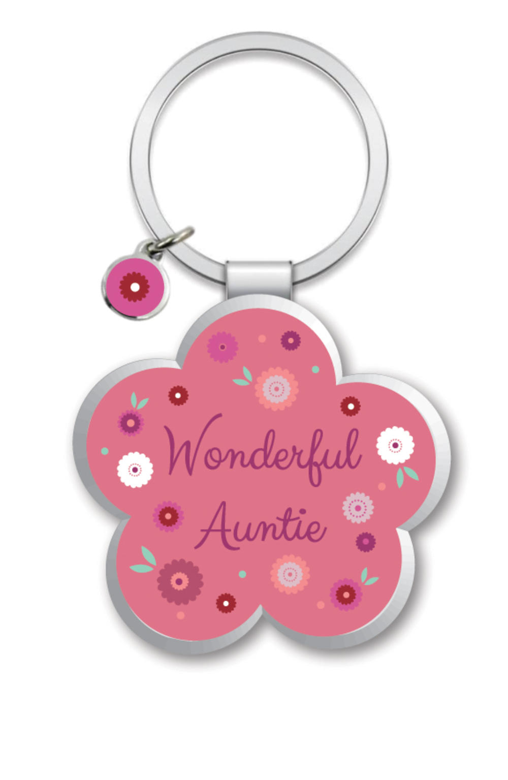 Wonderful Auntie Little Wishes Metallic Keyring