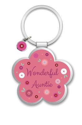 Wonderful Auntie Little Wishes Metallic Keyring