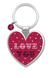 Love You Little Wishes Metallic Keyring