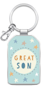 Great Son Little Wishes Metallic Keyring
