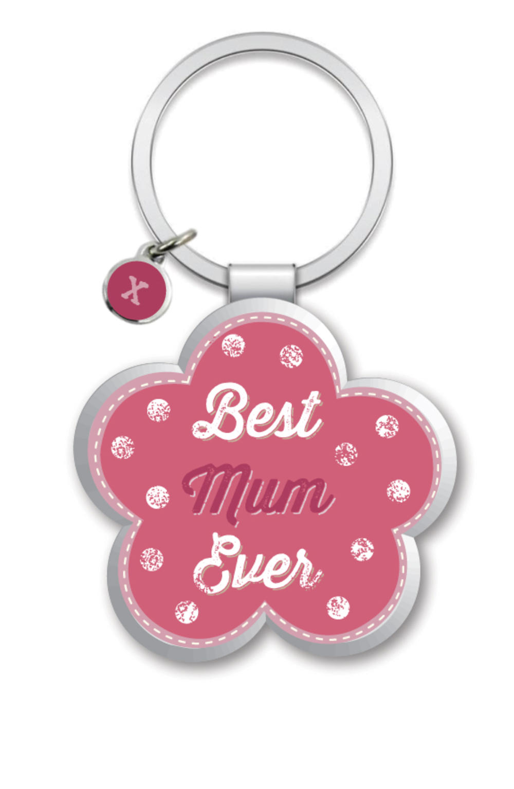 Best Mum Little Wishes Metallic Keyring