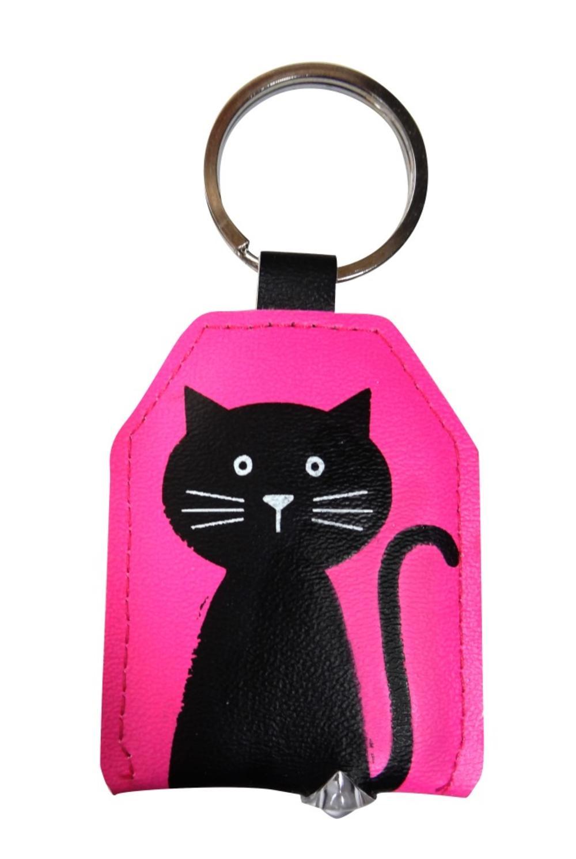 Pink Cat LED Key Light Keyring