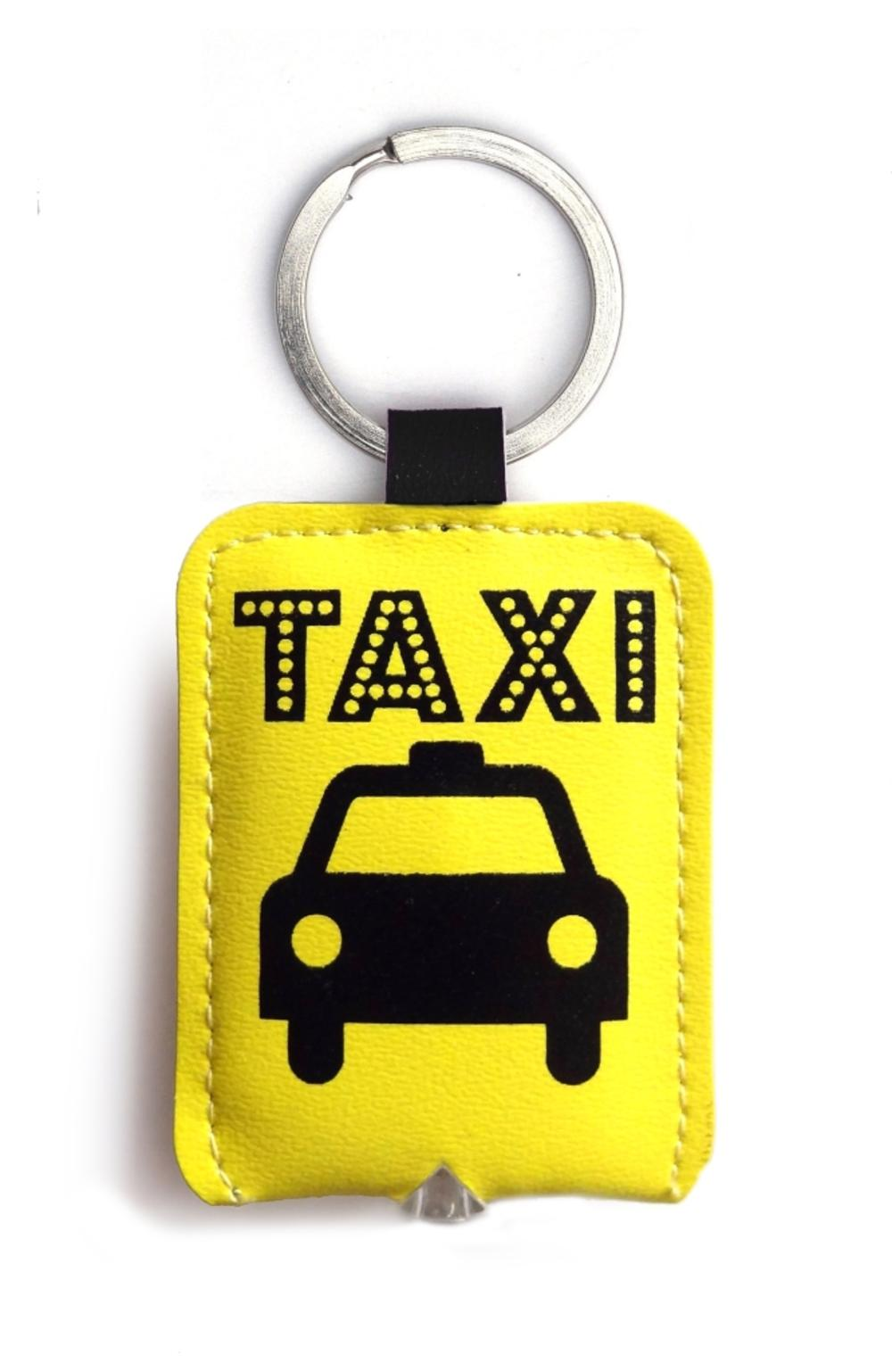 Yellow Taxi LED Key Light Keyring