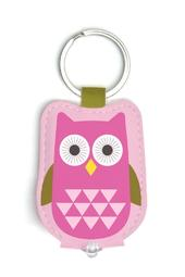 Pink Owl LED Key Light Keyring
